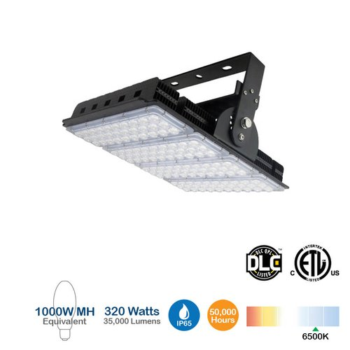 480V, 320W LED High Bay Light, 35000 Lumens, 1000W MH Equivalent