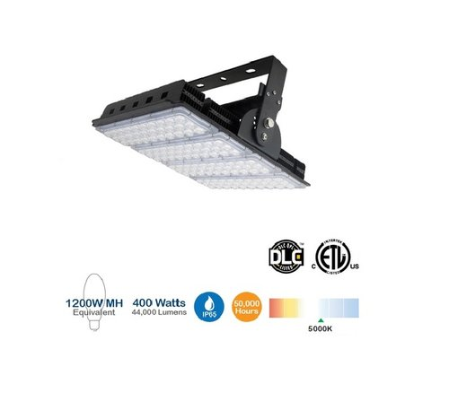 400W LED High Bay Sports Light, 1500W MH Replacement, 44000 Lumens, 5000K