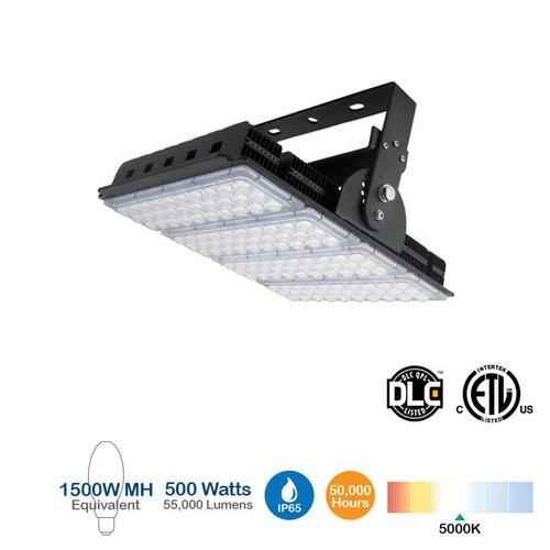 500W LED High Bay Sports Light, 62000 Lumens, 6500K, 1500W MH Equivalent
