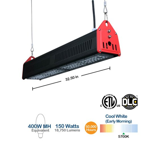 150w Linear Led Light Fixture: BrightStar LHB150W 150W LED Linear High Bay Shop Light