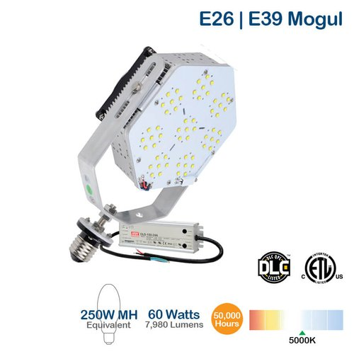 60W LED Shoebox Retrofit Kit, 7980 Lumen, 5000K, 175 MH Equivalent
