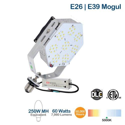 60W LED Shoebox Retrofit Kit, 175W MH Replacement, 7980 Lumens, 5000K