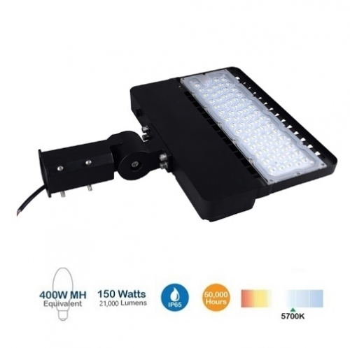 BrightStar 150W LED Shoebox Area Light, 400W MH Replacement, 21000 Lumens