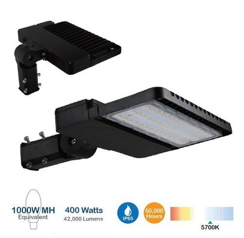 300W Shoebox Area Light, 1000W MH/HID Retrofit, 42000 Lumens, Photocell