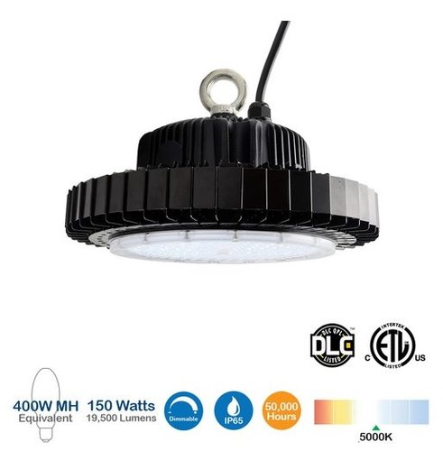 150W UFO LED High Bay Light, 400W MH Replacement, 19500 Lumens