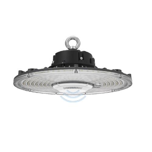 150W LED UFO High Bay w/ Motion Sensor, 400W HID Retrofit, Dimmable, 24000 lm, 5000K