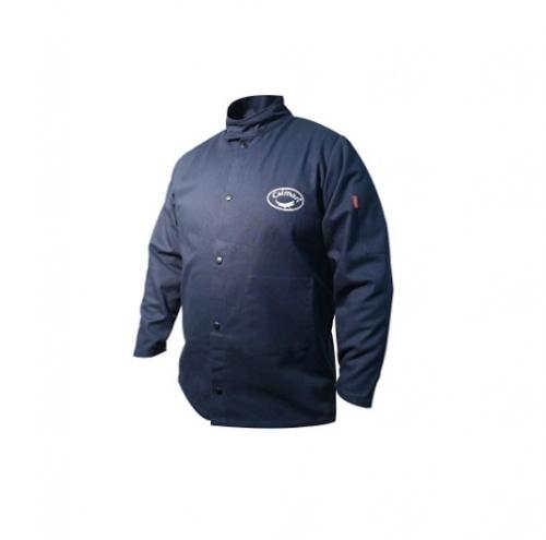 Flame Resistant Cotton Jacket, Large, Blue