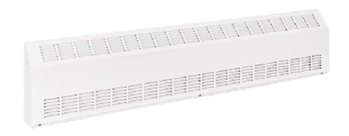 600W Sloped Commercial Baseboard, Medium Density, 120 V, Silica White