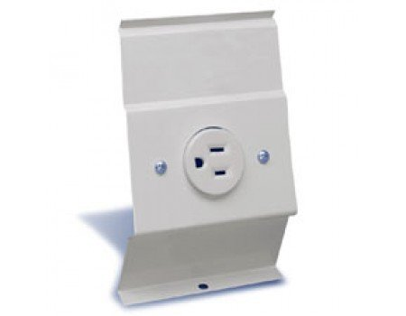 BRF12 Receptacle Plate, White