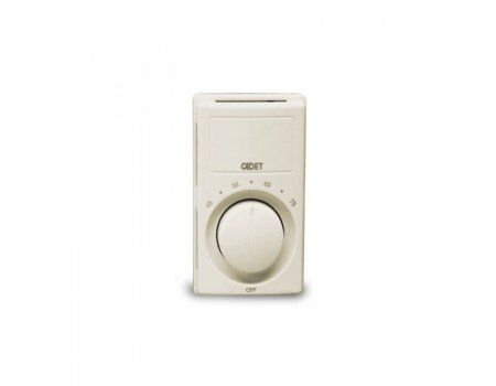 BiMetal Cooling or Heating Wall Mount Thermostat, Ivory