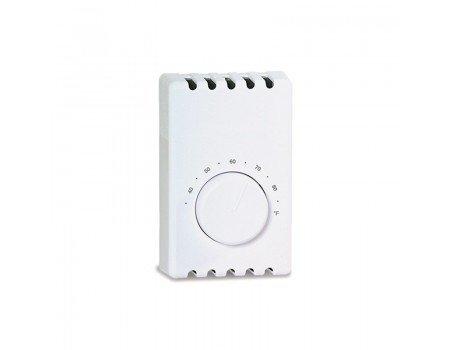 BiMetal Wall Mount Thermostat, Double Pole, White, 22A