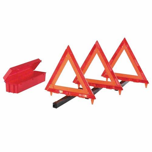 18 Inch Hi-Vis Orange 3 Triangle Roadside Emergency Kit