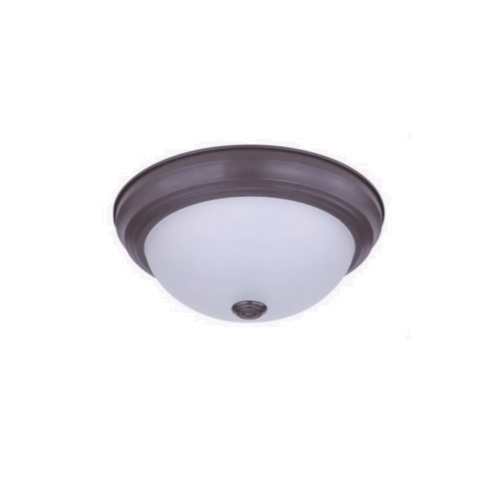 11-in 15W LED Ceiling Light, Dimmable, 850 lm, 120V, 3000K, Bronze
