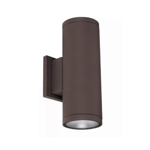 30W LED Cylinder Wall Sconce, 2000 lm, 5000K, Bronze