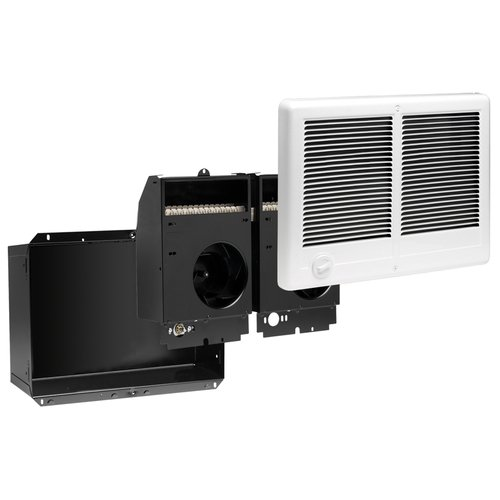 4000W at 240V Com-Pak Twin Wall Heater Complete Unit with Thermostat, White