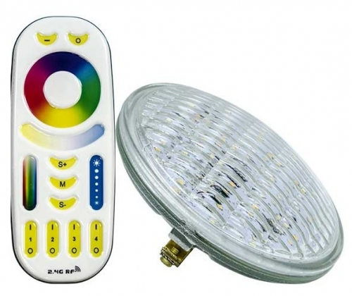 9W LED PAR36 Bulb, Multicolor LED, G53 Base, 12V