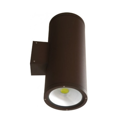 20W LED Wall Sconce, 2 Lamps, 2400 lm, 5000K, Bronze