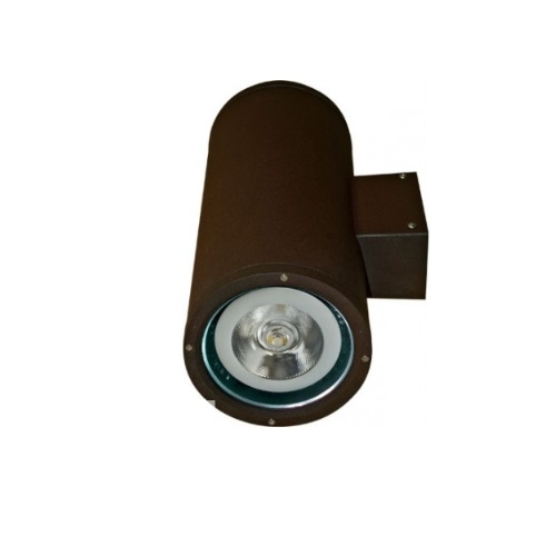 18W LED Wall Sconce, 2 Lamps, Flood, 2700K, Bronze