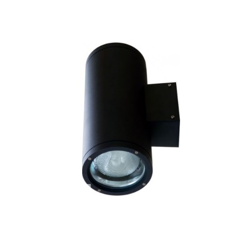 18W LED Wall Sconce, Flood, 6400K, Black
