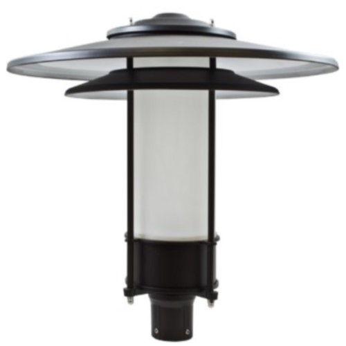 Dabmar lighting 30w large hat post top light fixture wfrosted lens 30w large hat post top light fixture wfrosted lens verde green aloadofball Image collections