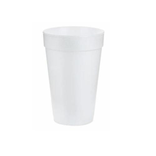 16oz Foam Cups, White