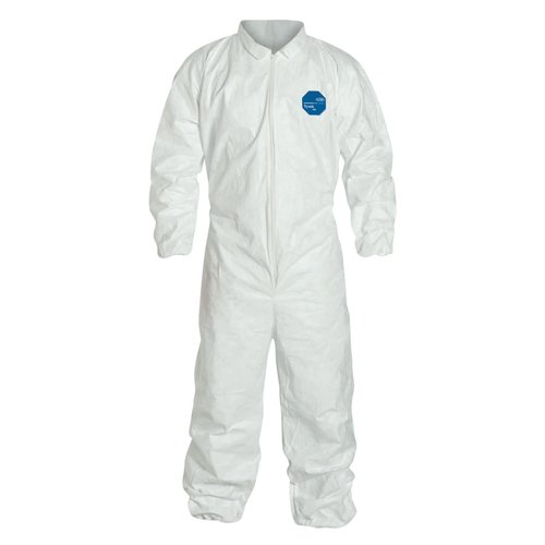 Triple XL White Tyvek Coverall Suit with Elastic Wrists and Ankles