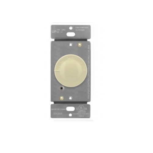 Ivory 3-Speed Rotary Fan Control