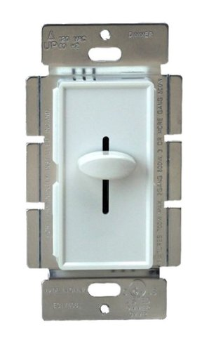 White Colored Three-Way Incandescent Slide Dimmer Control