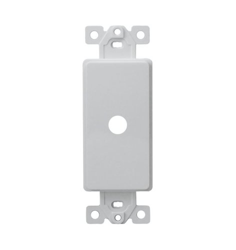 White 1-Gang Plasic Shaft Decorator Adapter Dimmer