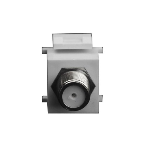 Almond F-Type Nickle Female-to-Female Bulkhead Audio/Video Connector