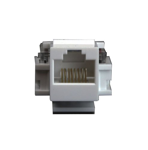 Almond Plastic Category 6 Female Jack Audio/Video Connector