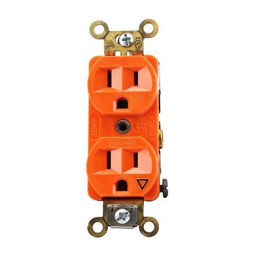 Orange Isolated Ground 15A Tamper Resistant Duplex Recepetacle