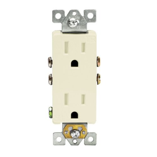 Light Almond Residential Grade Tamper Resistant 15A Duplex Receptacle