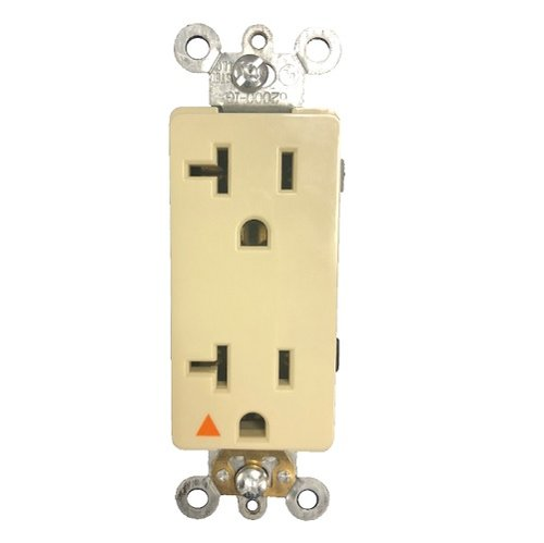 Ivory Colored 20A Isolated Duplex GFCI Receptacle