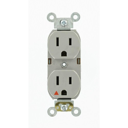 Ivory Isolated Ground Industrial Tamper Resistant 20A Duplex Receptacle