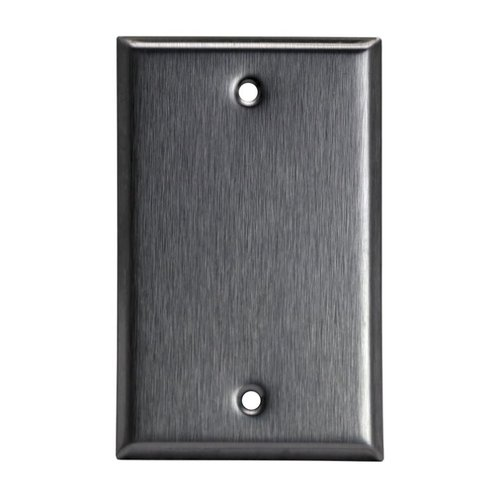 Over-Size Stainless Steel 1-Gang Blank Metal Wall Plate