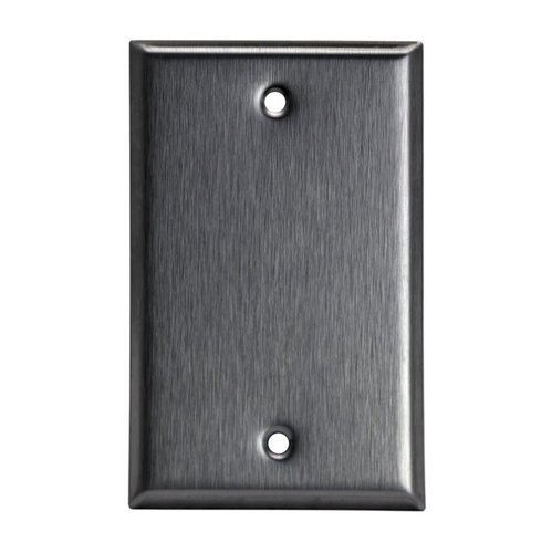 Stainless Steel 1-Gang Blank Metal Wall Mounted Plate