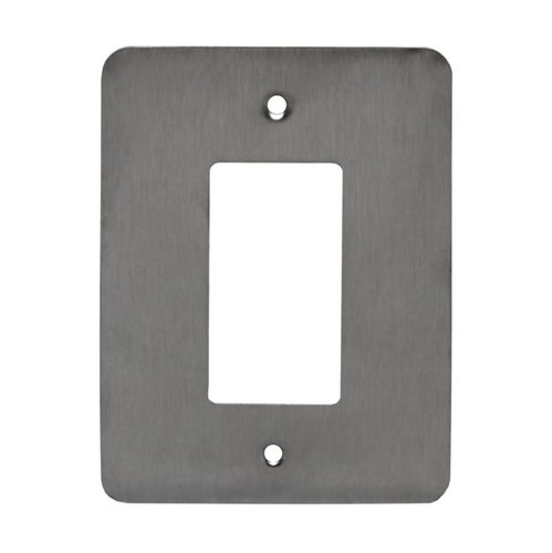 Over-Size Stainless Steel 1-Gang Decorator/GFCI Wall Plate