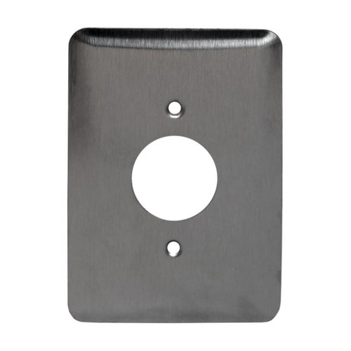 Mid-Size Stainless Steel Straight Blade 1-Gang Single Receptacle