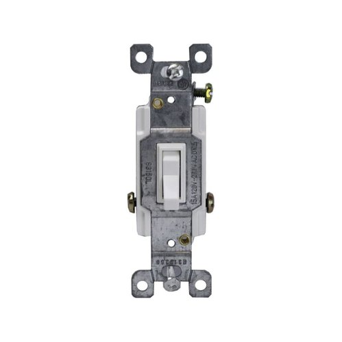 Almond Three-Way Push-In and Side Wired 15A Toggle Switches