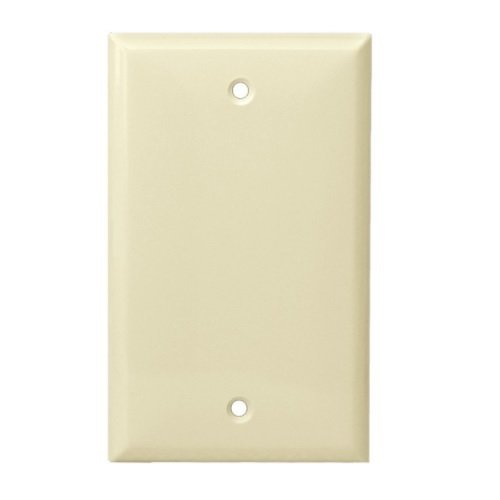 Light Almond Thermoplastic 1-Gang Blank Wall Plate