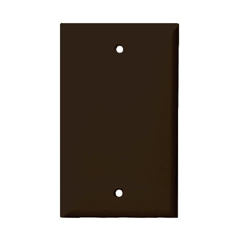 Brown Mid-Size Thermoplastic 1-Gang Blank Wall Plate