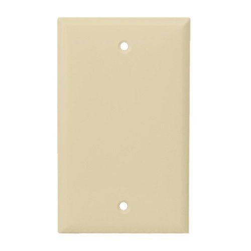 Ivory Mid-Size Thermoplastic 1-Gang Blank Wall Plate
