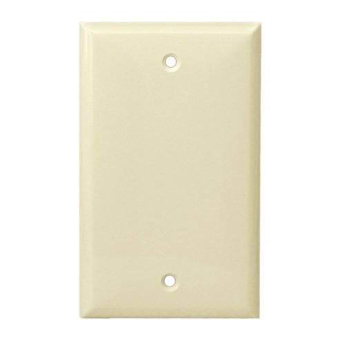 Almond Over-Size Thermoplastic 1-Gang Blank Wall Plate