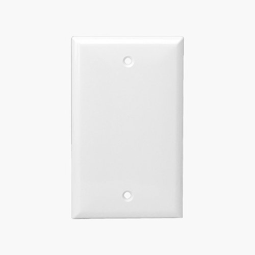 White Colored Thermoplastic 1-Gang Blank Wall Plate