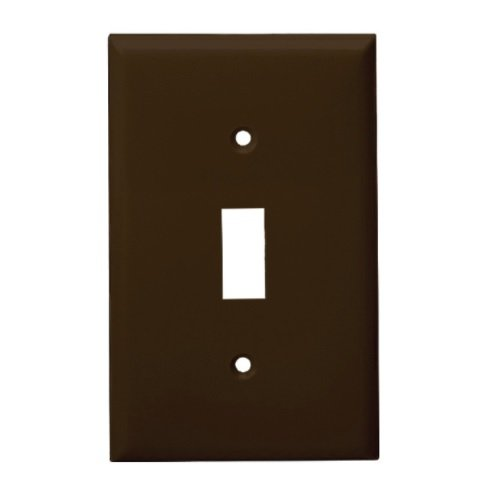 Brown Mid-Size 1-Gang Toggle Switch Plastic Wall Plates