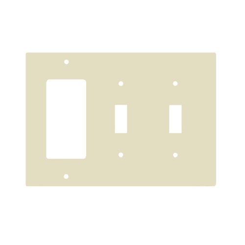 Almond Combination 3-Gang 2-Toggle and GFCI Plastic Wall Plates