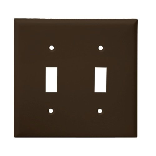 Brown Colored 2-Gang Toggle Switch Plastic Wall Plate