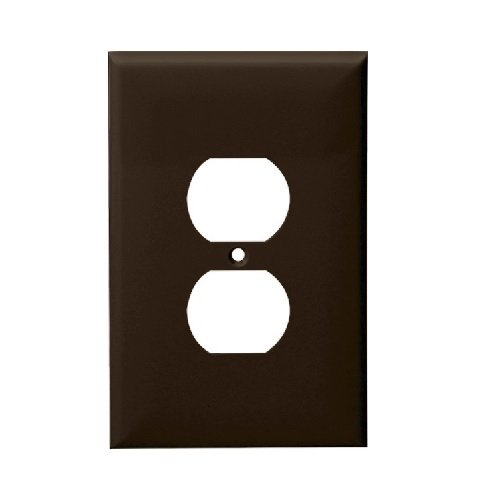 Brown 1-Gang Duplex Receptacle Plastic Wall Plates