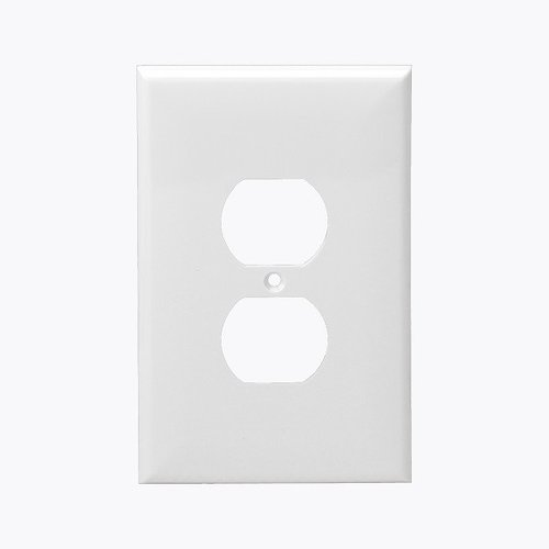 Light Almond 1-Gang Mid-Size Duplex Receptacle Plastic Wall Plates